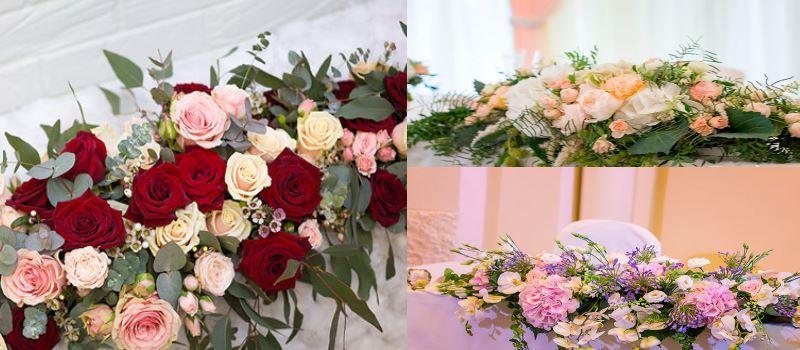 композиция цветов 80 см гортензия роза