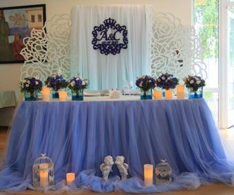 Оформление свадебного зала в графитовом цвете цена