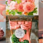 Оформление стульев на свадьбу в персиковом стиле