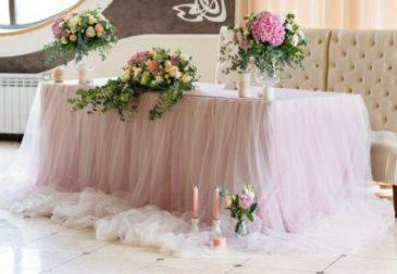 Украшение стола на свадьбу Москва