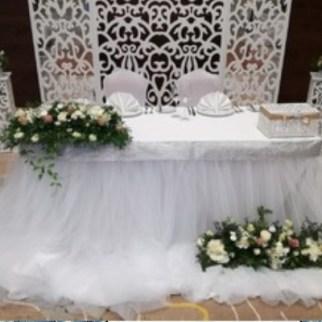 Оформление свадебного зала в белом цвете цена