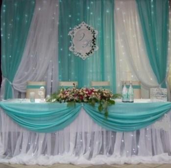 Оформление свадебного зала в голубом цвете цена