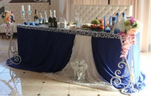 Оформление свадебного зала в синем цвете цена