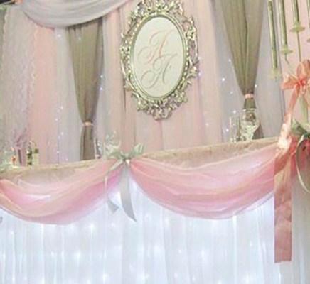 Оформление свадебного зала в розовом цвете стоимость