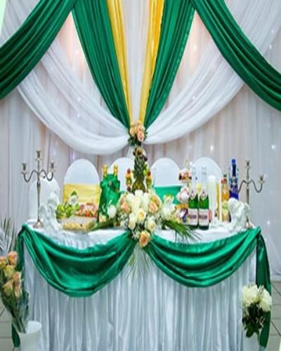 Оформление свадебного зала в зеленом цвете стоимость