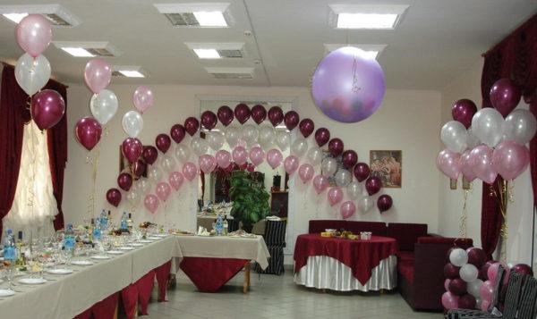 Оформление свадеб шарами цены Москва