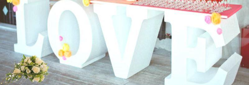 Буквы LOVE на свадьбу