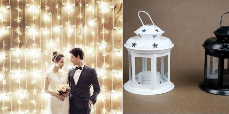 свадебный зал с подсветкой