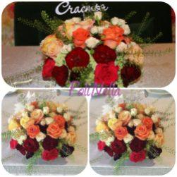 Живые цветы для украшения свадебного стола