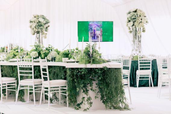 Украшение гостевых столов зеленью