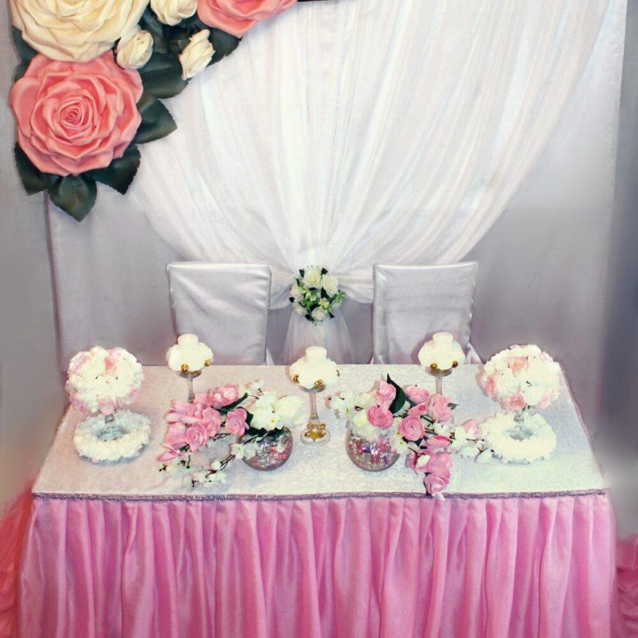 Оформление свадьбы ростовыми цветами