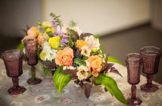 Цветочная композиция на свадьбу в стиле Бохо