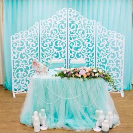 Свадебная ширма в голубом цвете