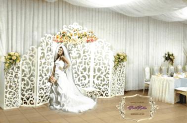Ширма для свадьбы резная