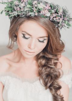 свадебная прическа в эко-стиле