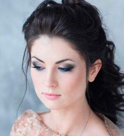 Свадебная прическа на волосы средней длины