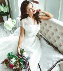 Свадебная прическа и макияж на длинные волосы