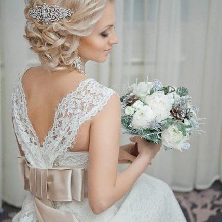 свадебная прическа и макияж на дом