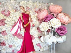 Фотозона на свадьбу бело-розовая Москва