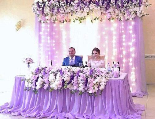 Офорсмление свадьбы в сиреневом цветет Москва