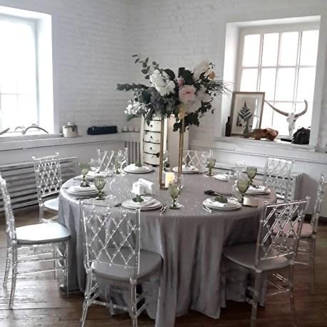 Цветочная композиция на гостевые столы в стиле Лофт