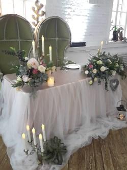 Оформление свадебного стола в стиле Лофт.