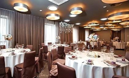 Украшение свадебного зала в кофейных тонах