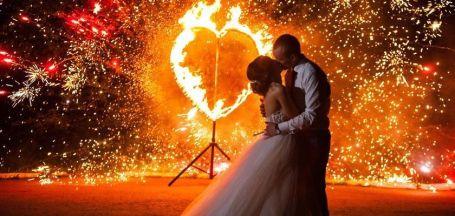 Оформление светом свадьбы