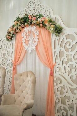 Свадьба в персиковом цвете фотография