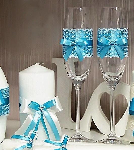 Свадебные бокалы купить Москва недорого