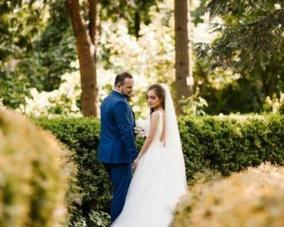 Оформление организации свадьбы в голубом