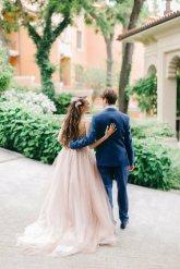 Свадьба в голубом цвете образ невесты