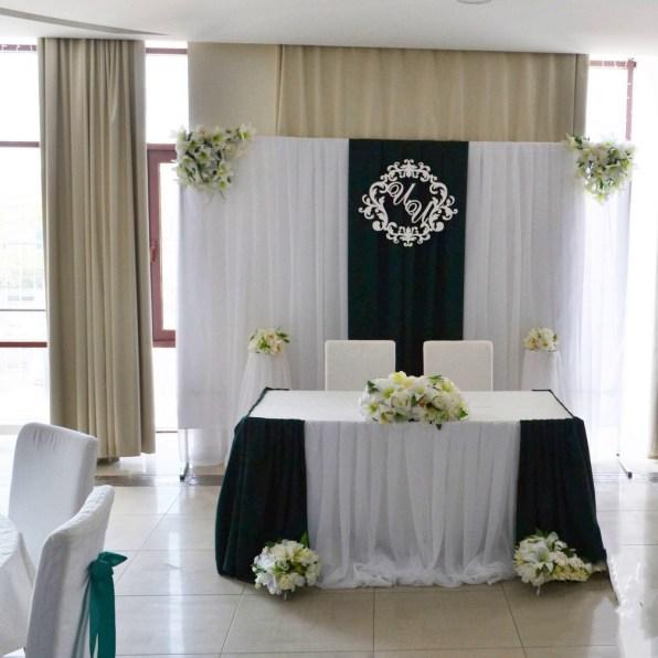 Украшение свадьбы в зеленом