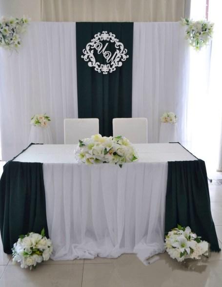 Оформление свадьбы в зеленом цвете