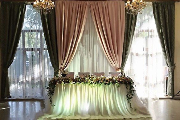 Свадебные залы оформление фото