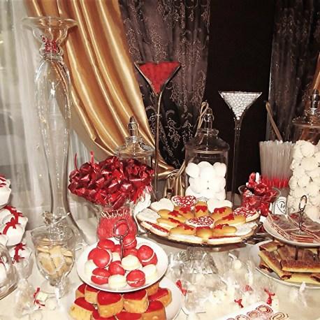 Оформление сладкого стола в красном цвете