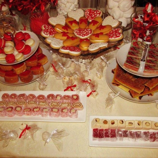 Свадьба в красном цвете торт