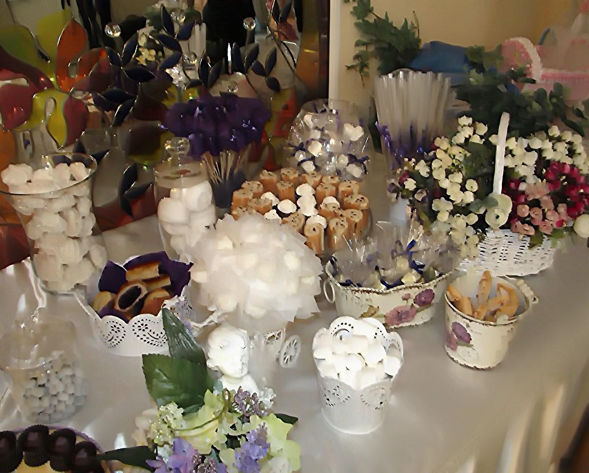 оформление сладкого стола на свадьбу в сиреневом цвете