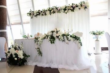 Оформление свадебного зала фото