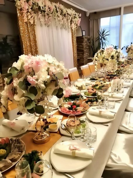 Украшение столов на свадьбе фото