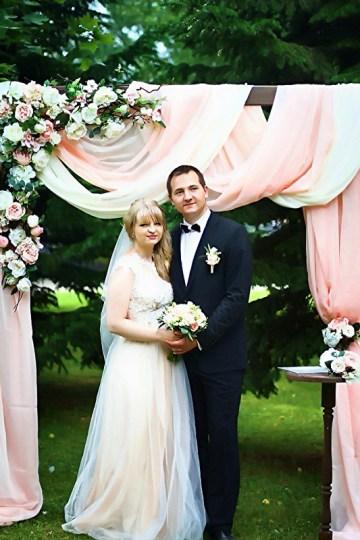 Оформление свадебных арок цветами