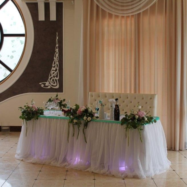 Украшение свадьбы в бирюзовом цвете Долгопрудный