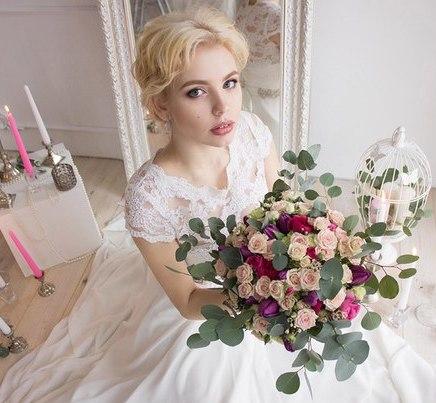 Прическа на свадьбу на дом