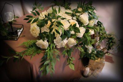 Цветочная композиция для лофт свадьбы