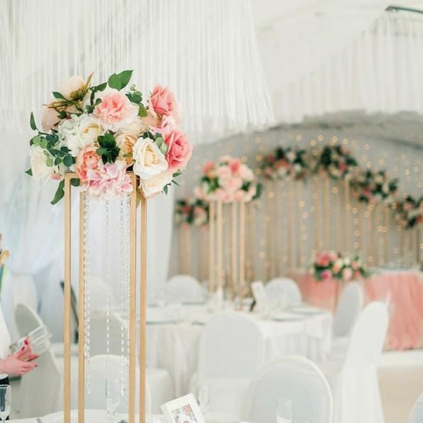 Розово-кофейные тона в оформлении свадьбы