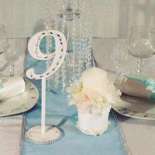 Украшение свадьбы в стиле тиффани