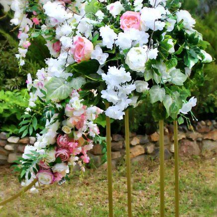 Цветочные стойки для свадебной арки
