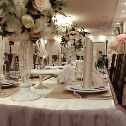 Украшение зала на свадьбу в стиле Прованс пудровая роза