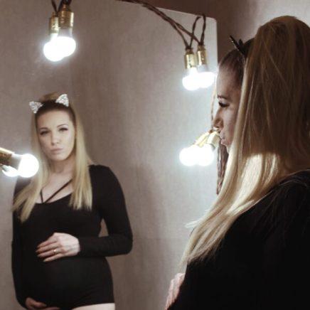 Идея для фото беременной
