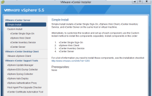vcenter5.5 安裝畫面